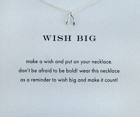 Graduation Gift Idea for Her – Dogeared Wish Big Wishbone Necklace in Silver