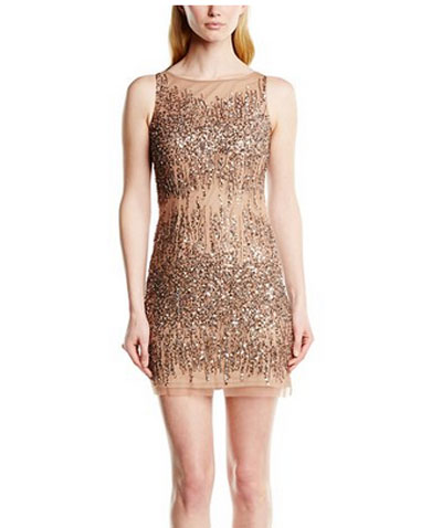 Rose-Gold-Adrianna-Papell-Women's-Sleeveless-Beaded-Illusion-Dress